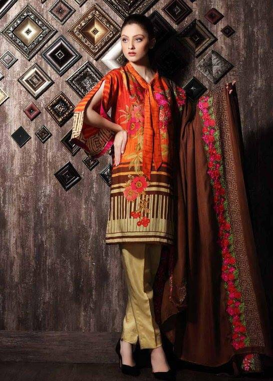 Charizma Embroidered Linen Unstitched 3 Piece Suit CR17W 10