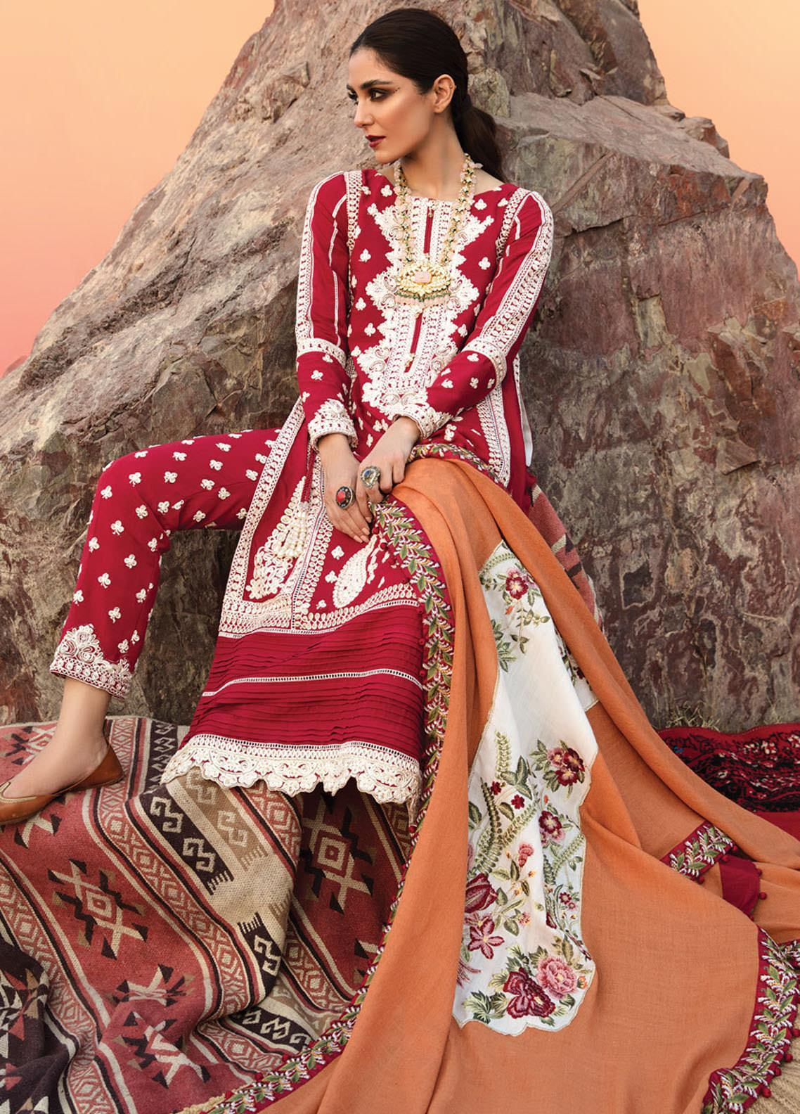 Musafir by Crimson Embroidered  Unstitched 3 Piece Suit CR20MF 1-A - Winter Collection