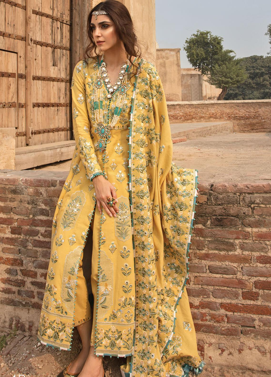 Musafir by Crimson Embroidered  Unstitched 3 Piece Suit CR20MF 4-B - Winter Collection