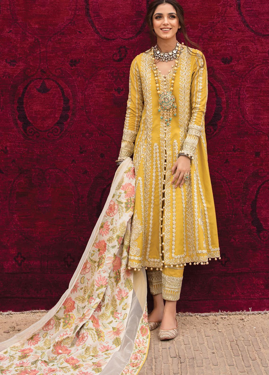 Musafir by Crimson Embroidered Unstitched 3 Piece Suit CR20MF 6-B - Winter Collection