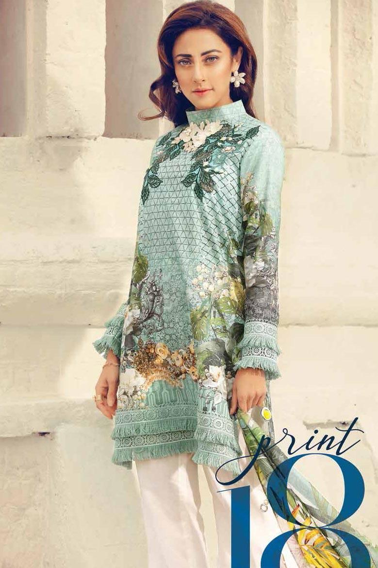 Cross Stitch Embroidered Lawn Unstitched 3 Piece Suit CS17L 18