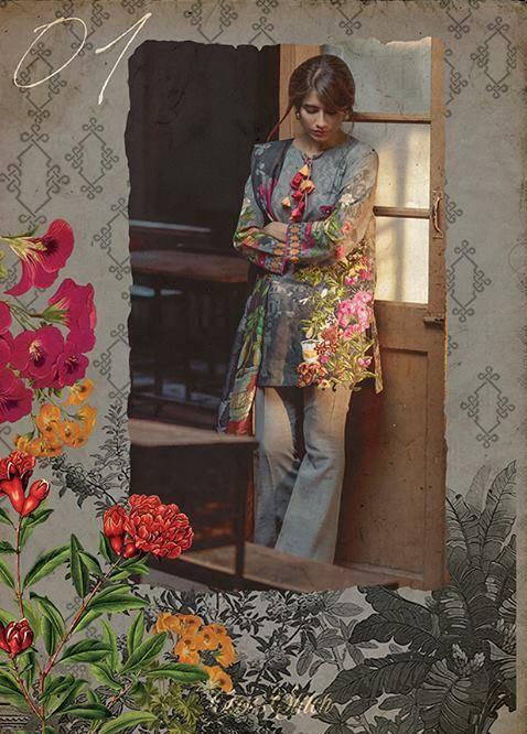 Cross Stitch Embroidered Khaddar Unstitched 3 Piece Suit CS17WK 01
