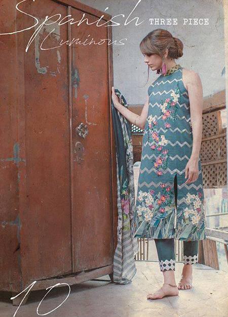 Cross Stitch Embroidered Khaddar Unstitched 3 Piece Suit CS17WK 10