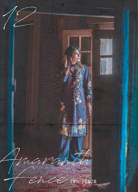Cross Stitch Printed Khaddar Unstitched 2 Piece Suit CS17WK 12