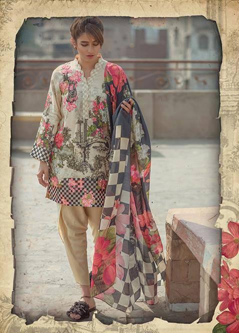 Cross Stitch Embroidered Linen Unstitched 3 Piece Suit CS17WL 04