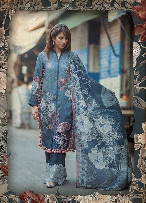 Cross Stitch Embroidered Linen Unstitched 3 Piece Suit CS17WL 06