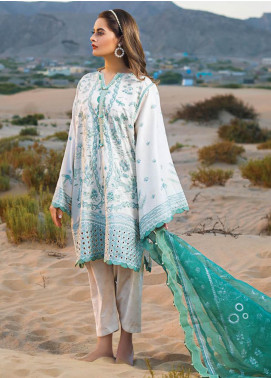 Erum Khan Ek21l 08 Nile Mint Luxury Lawn