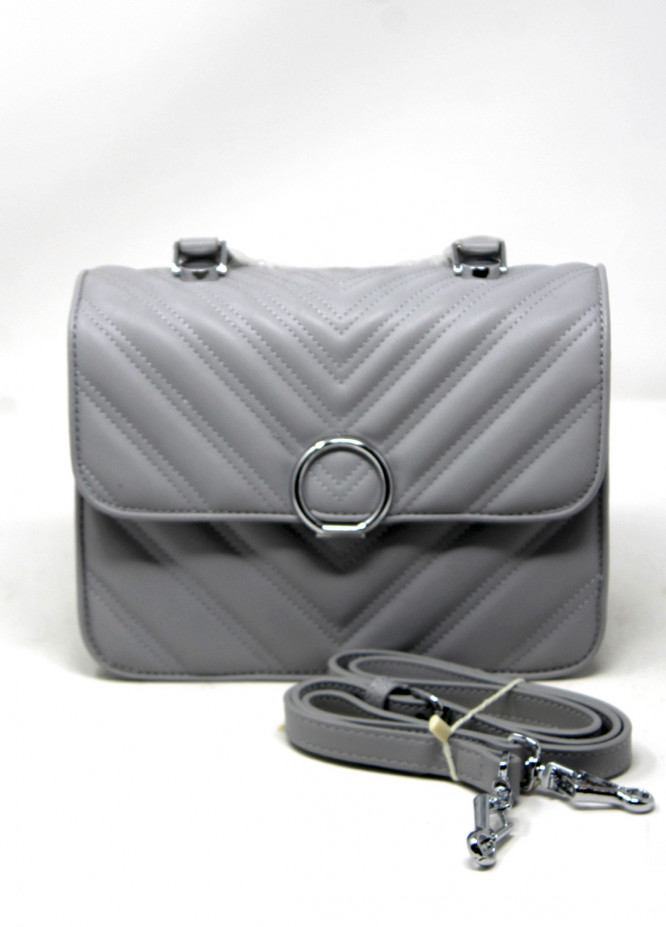 Susen PU Leather Shoulder  Bag for Women - Grey with