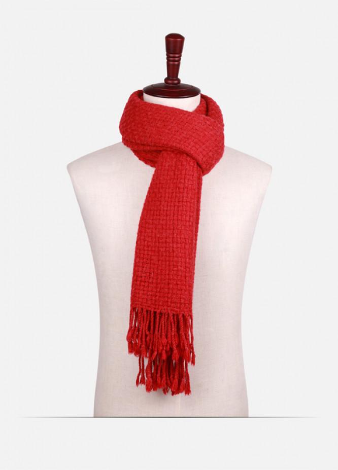 Maroon Plain Wool Stoles for ladies - ED18W 099