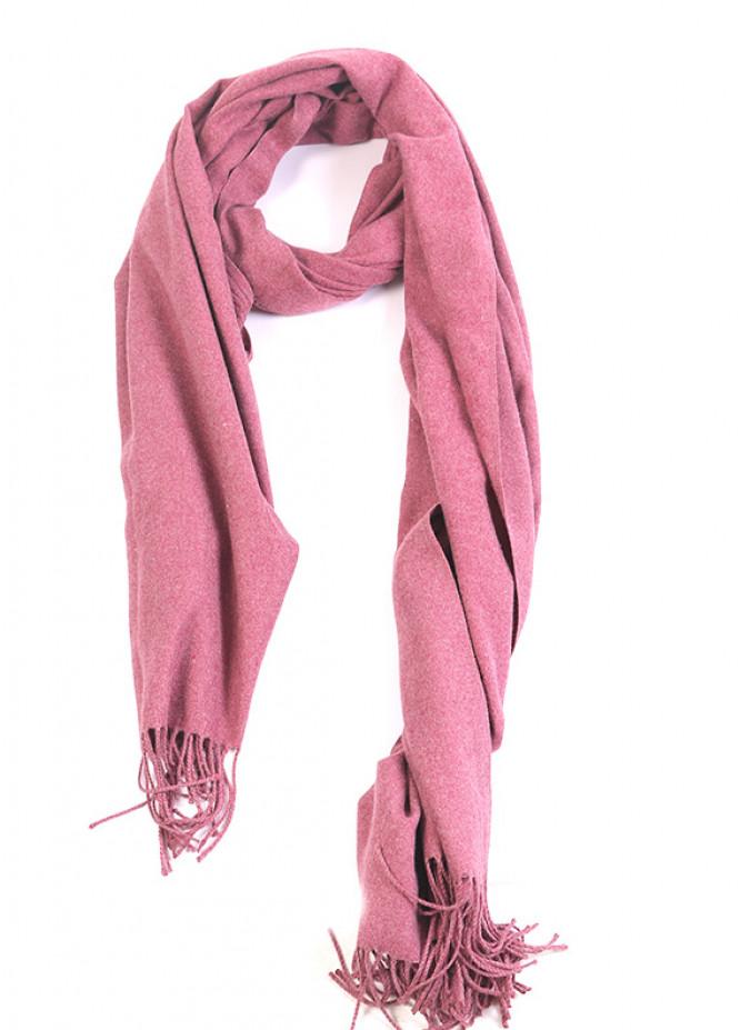 Tea Pink Plain Pashmina Stoles for ladies - SA 413