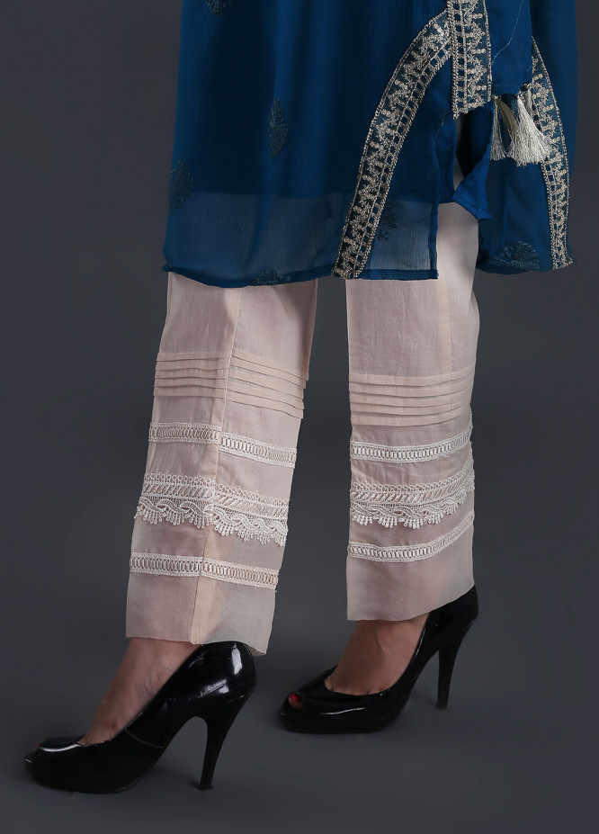 Change Embroidered  Stitched Trousers CH18K CLP130 BEIGE