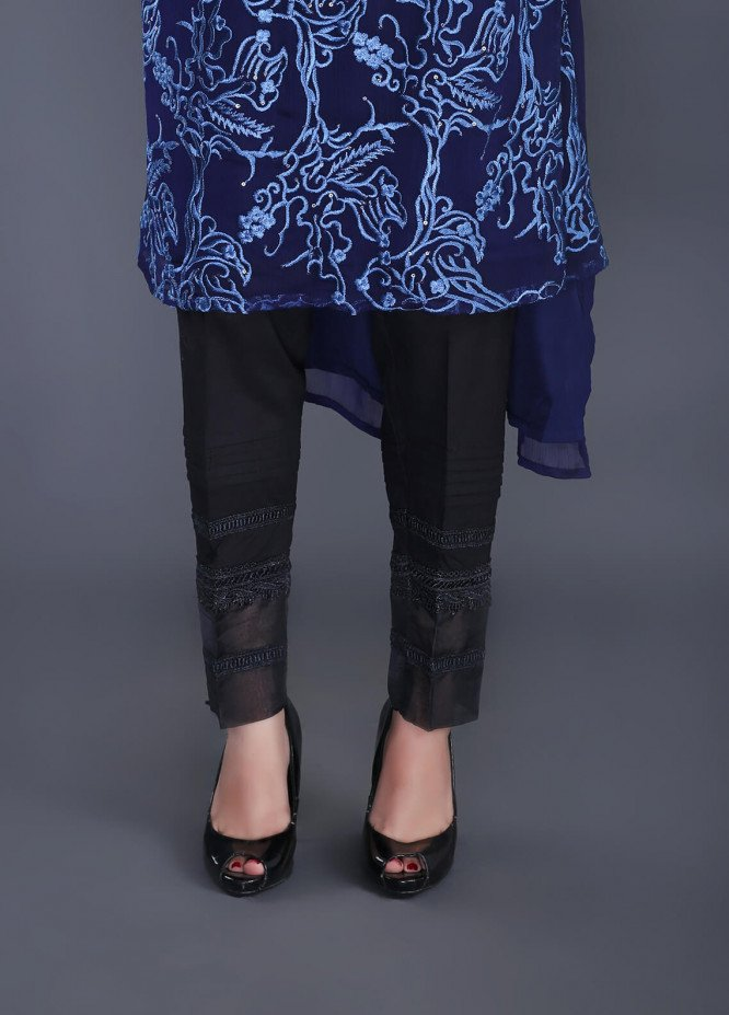 Change Embroidered  Stitched Trousers CH18K CLP130 BLACK