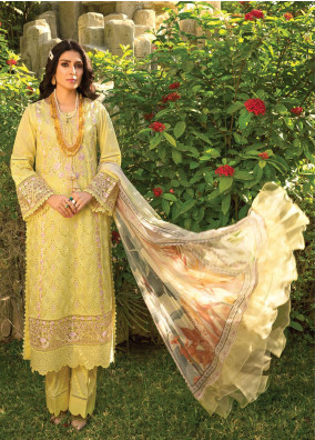 Zoha by Ansab Jahangir Embroidered Lawn Suits Unstitched 3 Piece ANJ21Z 01 Luana - Summer Collection