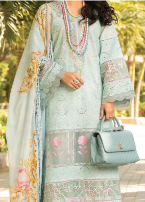 Zoha by Ansab Jahangir Embroidered Lawn Suits Unstitched 3 Piece ANJ21Z 02 Kailano - Summer Collection