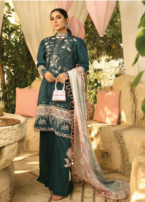 Zoha by Ansab Jahangir Embroidered Lawn Suits Unstitched 3 Piece ANJ21Z 04 Leilani - Summer Collection