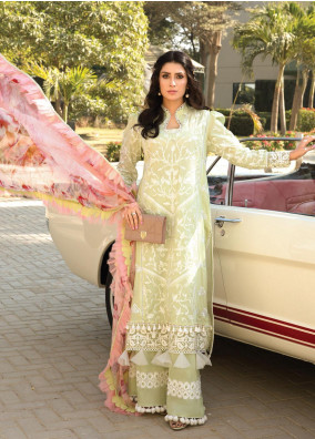 Zoha by Ansab Jahangir Embroidered Lawn Suits Unstitched 3 Piece ANJ21Z 07 Delmare - Summer Collection