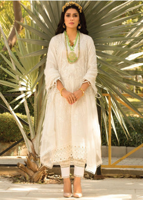 Zoha by Ansab Jahangir Embroidered Lawn Suits Unstitched 3 Piece ANJ21Z 08 Kai - Summer Collection