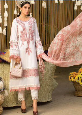 Zoha by Ansab Jahangir Embroidered Lawn Suits Unstitched 3 Piece ANJ21Z 09 Marina - Summer Collection