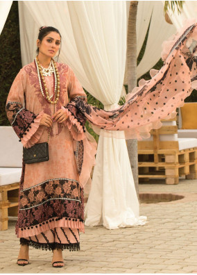 Zoha by Ansab Jahangir Embroidered Lawn Suits Unstitched 3 Piece ANJ21Z 11 Keone - Summer Collection