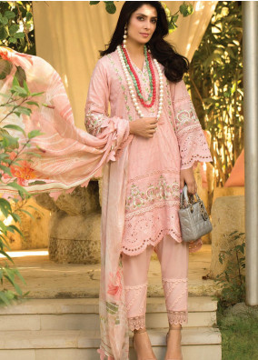 Zoha by Ansab Jahangir Embroidered Lawn Suits Unstitched 3 Piece ANJ21Z 12 Nahla - Summer Collection