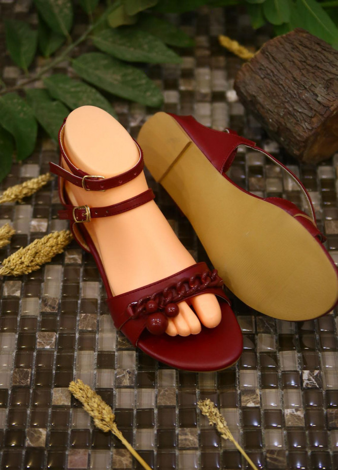 1st Sight Fashion Casual Style  Flat  Ecs Flat 5 Red