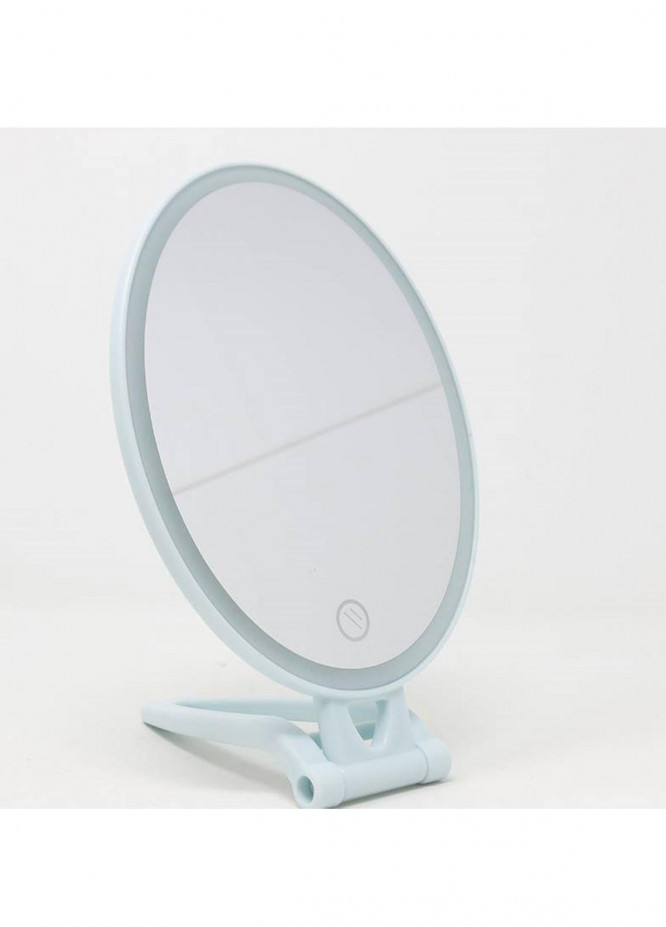 Mumuso Folding Makeup Mirror with LED Light (Blue)