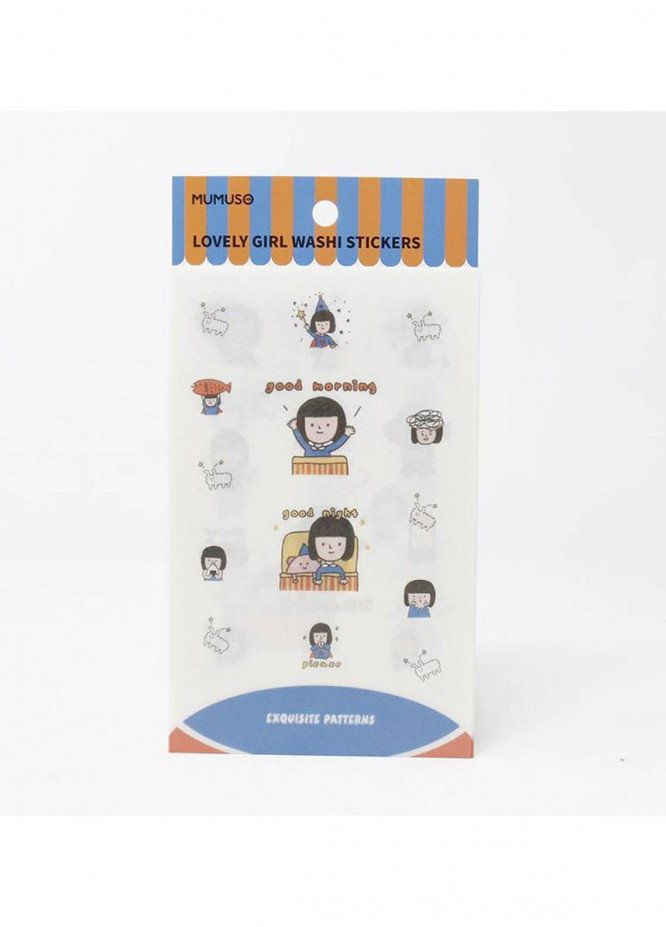 LOVELY GIRL WASHI STICKERS