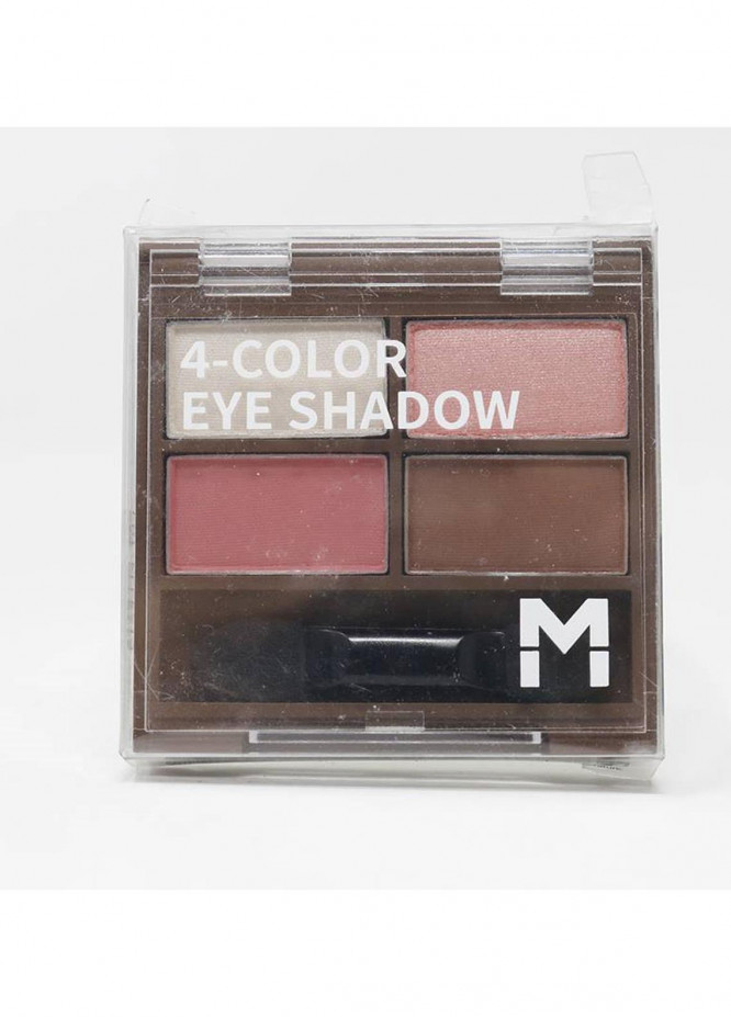 Mumuso 4-COLOR EYE SHADOW PALETTE 04 PEACH PINK