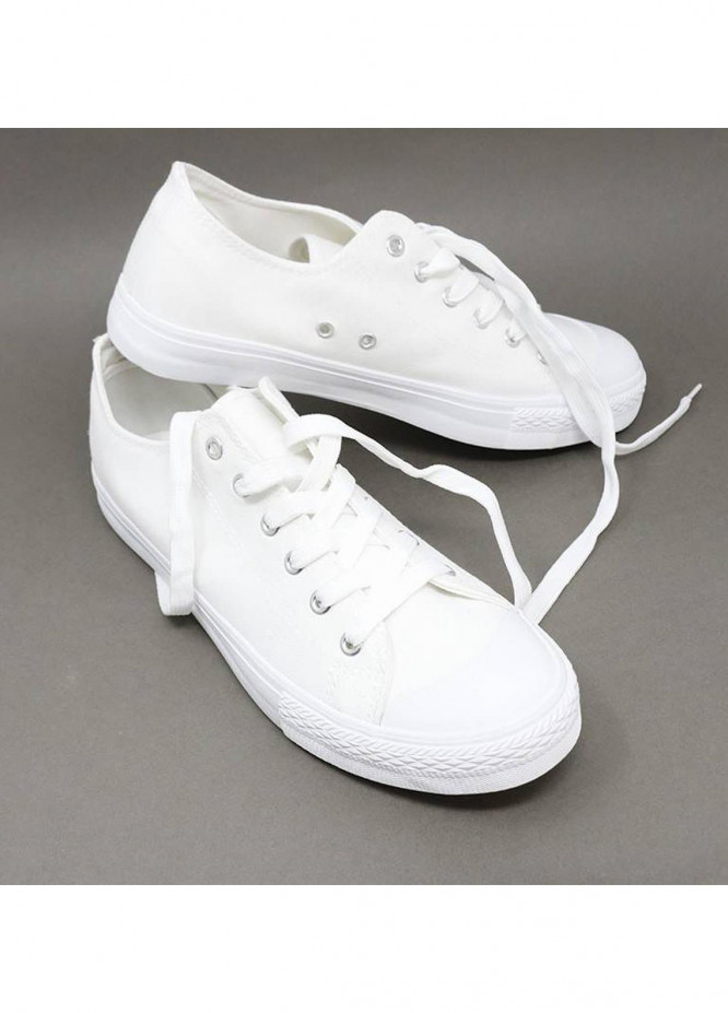 Mumuso Casual Style  Flat Shoes 50 CANVAS WHITE