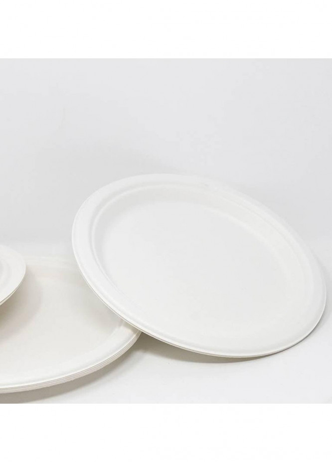Mumuso 9 INCH DISPOSABLE PLATES (10-PIECE-WHITE)