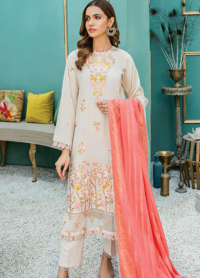 Aabyaan Embroidered Lawn Suits Unstitched 3 Piece ABY21L D-04 - Summer Collection