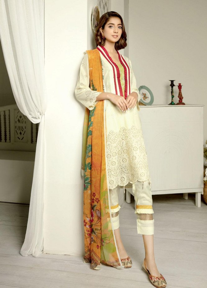 Aafreen By Riaz Arts Embroidered Lawn Suits Unstitched 3 Piece RA21-AF11 87 - Summer Collection