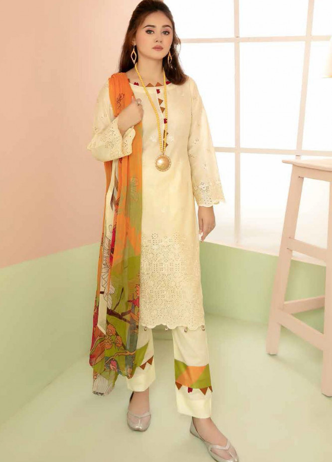 Aafreen By Riaz Arts Embroidered Lawn Suits Unstitched 3 Piece RA21-AF8 76 - Summer Collection