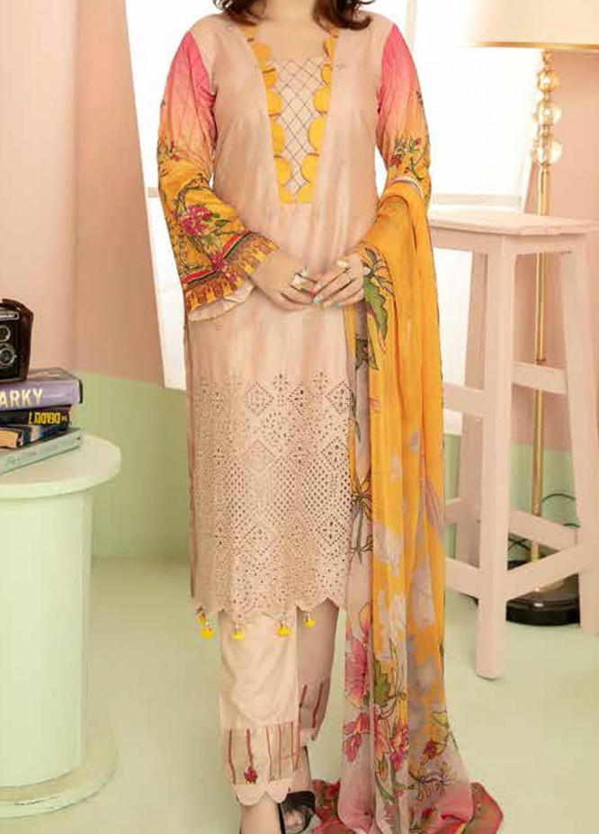 Aafreen By Riaz Arts Embroidered Lawn Suits Unstitched 3 Piece RA21-AF8 78 - Summer Collection