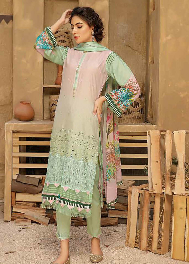 Aafreen by Riaz Arts Embroidered Lawn Suits Unstitched 3 Piece RA21AF 15 - Summer Collection