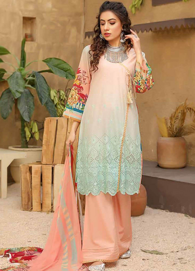 Aafreen by Riaz Arts Embroidered Lawn Suits Unstitched 3 Piece RA21AF 19 - Summer Collection