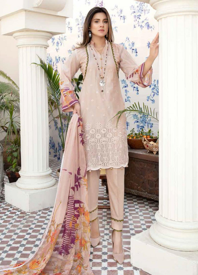 Aafreen by Riaz Arts Embroidered Lawn Suits Unstitched 3 Piece RA21AF-3 AF-30 - Summer Collection