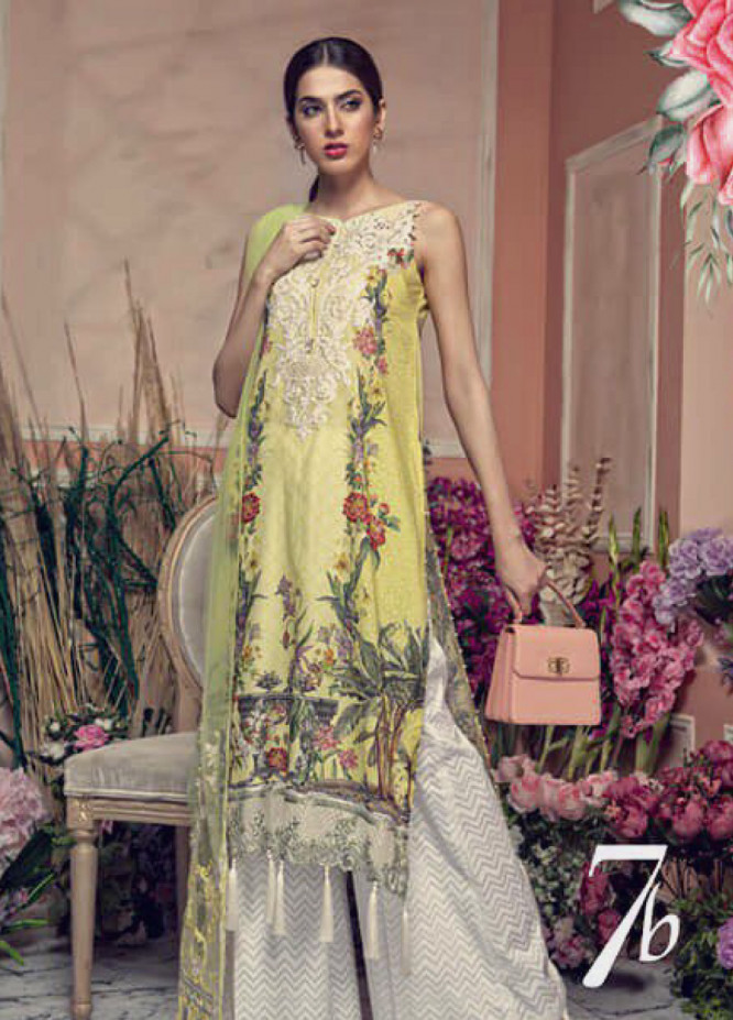 Aayra Embroidered Lawn Unstitched 3 Piece Suit AY19L 07B - Spring / Summer Collection