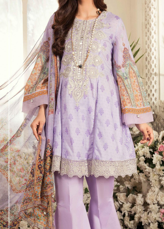 Aayra Embroidered Lawn Suits Unstitched 3 Piece AY21L 03A - Luxury Collection