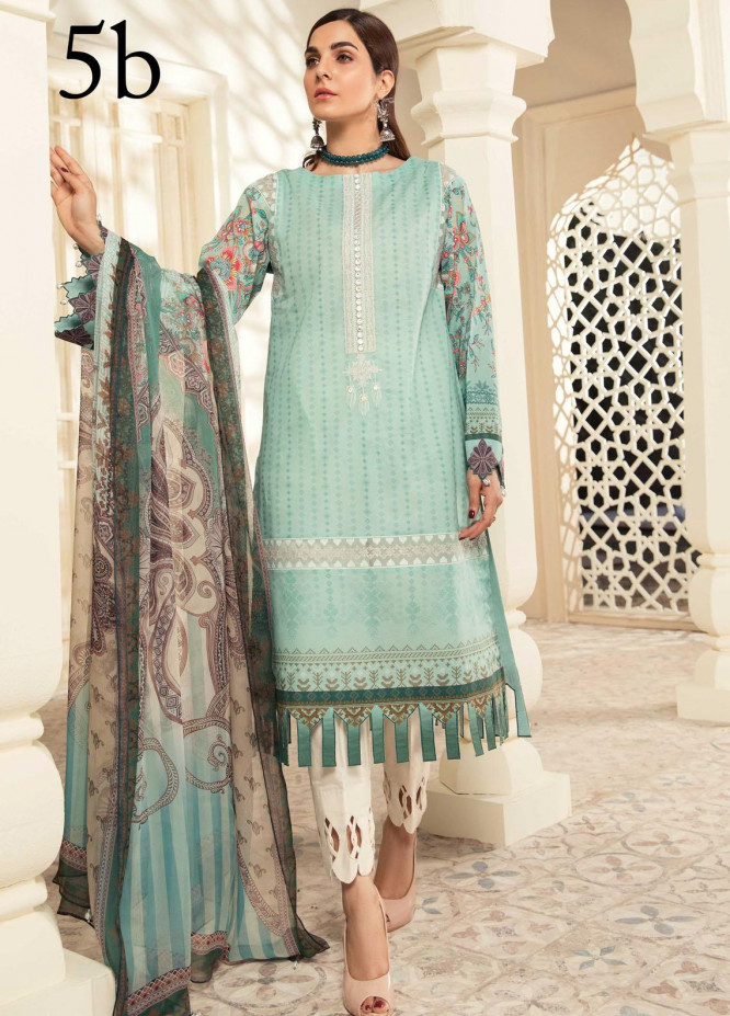 Aayra Embroidered Lawn Suits Unstitched 3 Piece AY21L 05B - Luxury Collection