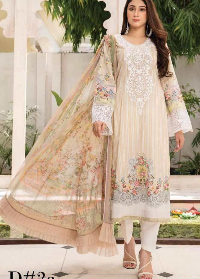 Abrish by Marwat Textiles Embroidered Lawn Suits Unstitched 3 Piece MW21A 2A - Summer Collection