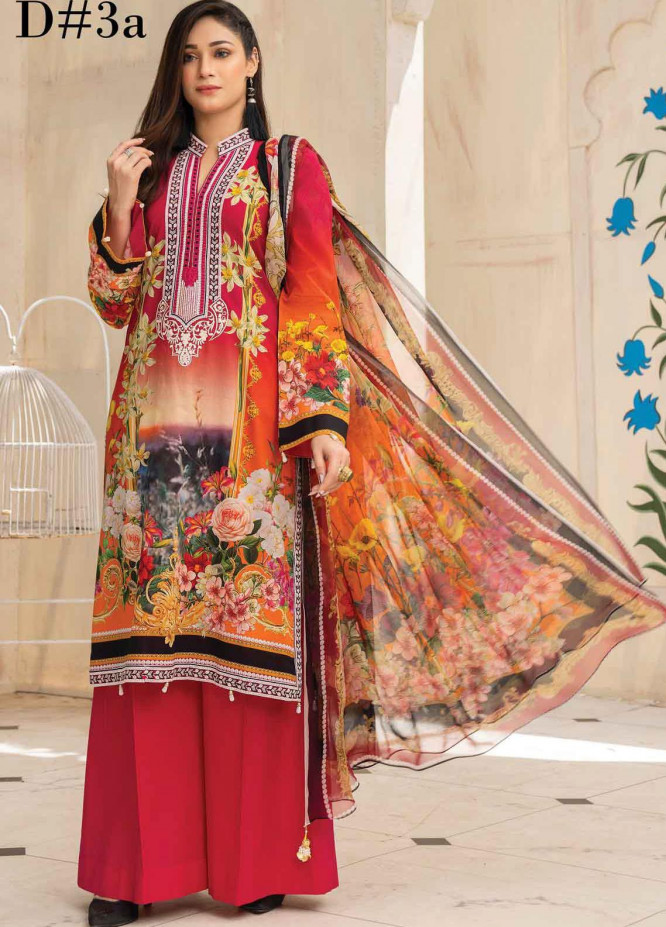 Abrish by Marwat Textiles Embroidered Lawn Suits Unstitched 3 Piece MW21A 3A - Summer Collection