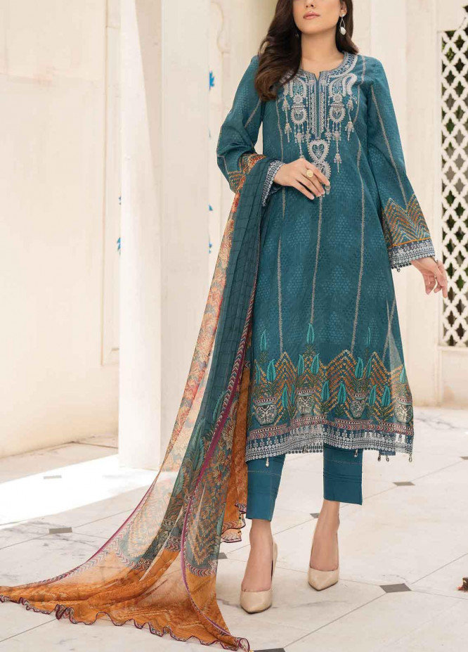 Abrish by Marwat Textiles Embroidered Lawn Suits Unstitched 3 Piece MW21A 7A - Summer Collection