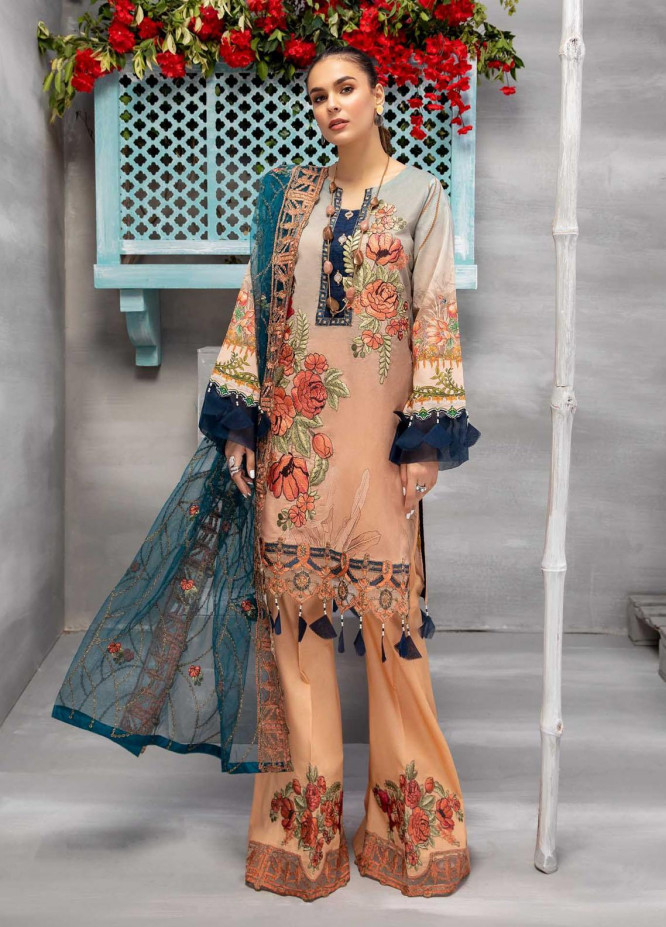 Azure By Adan's Libas Embroidered Lawn Suits Unstitched 3 Piece AL21AL 02 Plush Wear - Summer Collection