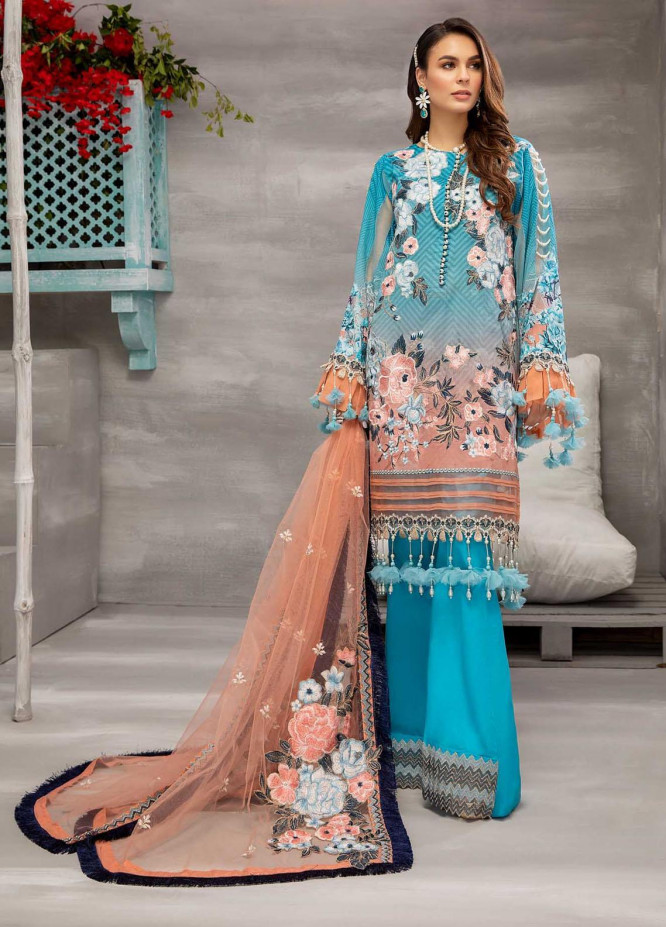 Azure By Adan's Libas Embroidered Lawn Suits Unstitched 3 Piece AL21AL 04 Pure Radiance - Summer Collection