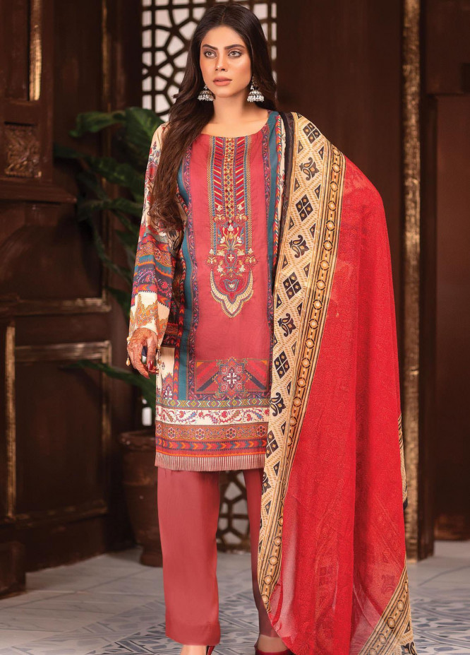 Afreen by Zebaish Embroidered Lawn Suits Unstitched 3 Piece ZSH21AR DE-02 - Summer Collection