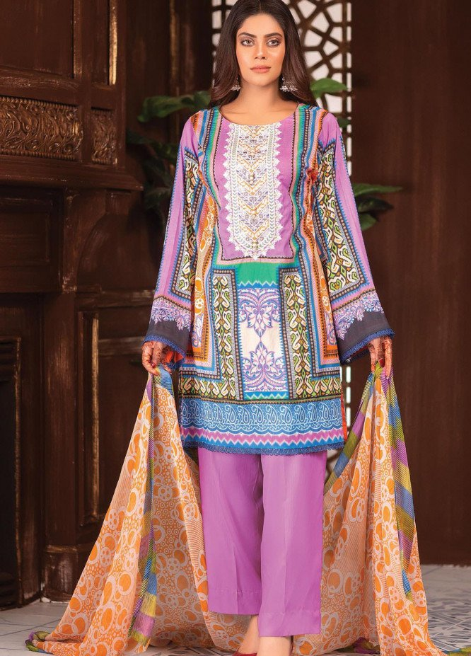 Afreen by Zebaish Embroidered Lawn Suits Unstitched 3 Piece ZSH21AR DE-03 - Summer Collection
