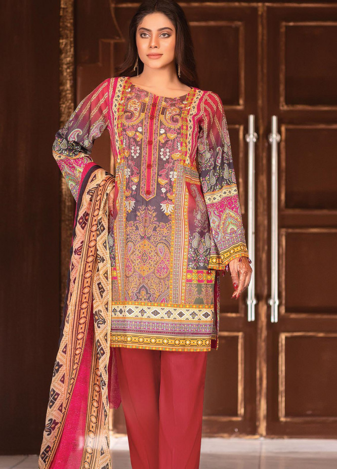 Afreen by Zebaish Embroidered Lawn Suits Unstitched 3 Piece ZSH21AR DE-05 - Summer Collection