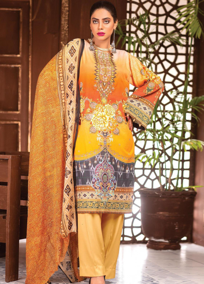 Afreen by Zebaish Embroidered Lawn Suits Unstitched 3 Piece ZSH21AR DE-09 - Summer Collection