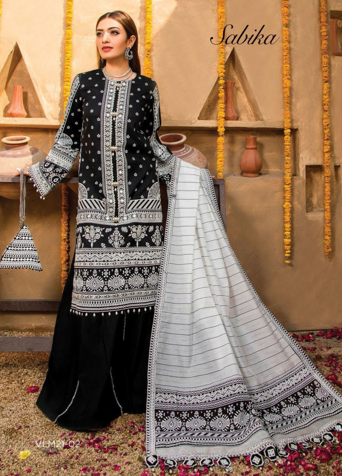Afreen Viva by Anaya Embroidered Lawn Suits Unstitched 3 Piece AKC21A 02 Sabika - Luxury Collection